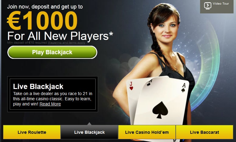 De live blackjack dealers bij Eurogrand