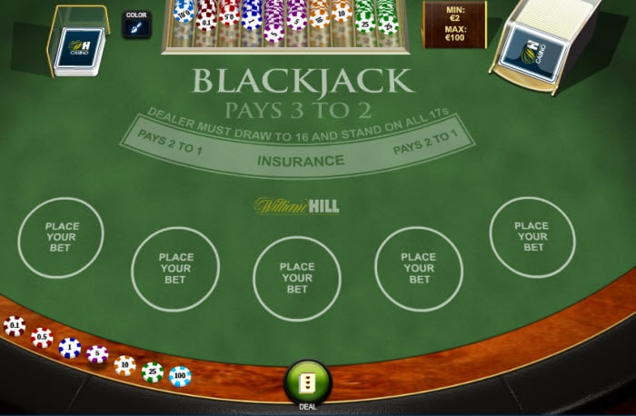 William Hill Blackjack multihand